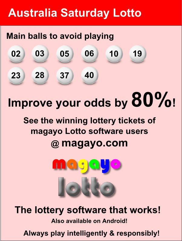 Saturday Lotto Numbers Australia