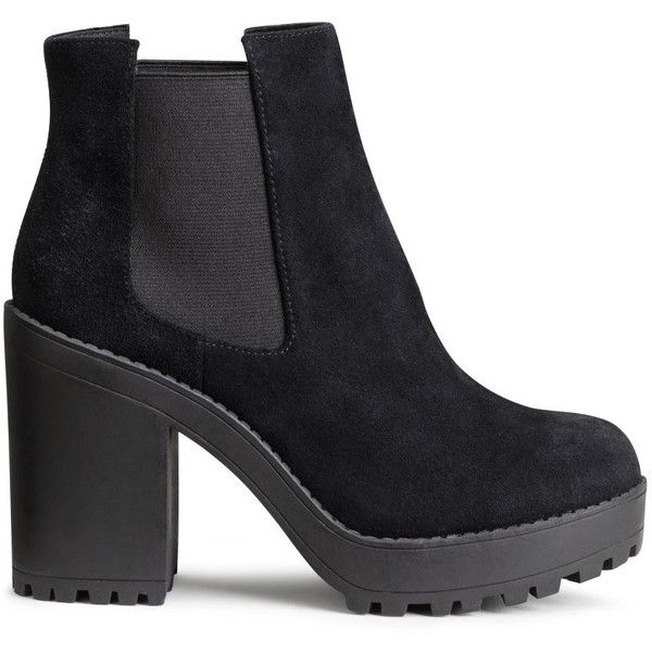 7a524b986c57 H M Suede platform boots ( 40) ❤ liked on Polyvore featuring shoes ...