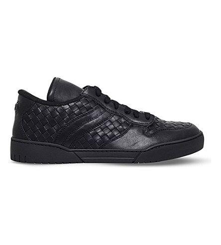 BOTTEGA VENETA Intrecciato-Weave Leather Trainers. #bottegaveneta #shoes #trainers