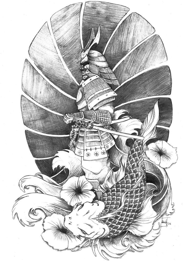 Samourai By Luuna75 On Deviantart Samurai Tattoo Design Samurai Tattoo Japanese Tattoo Art