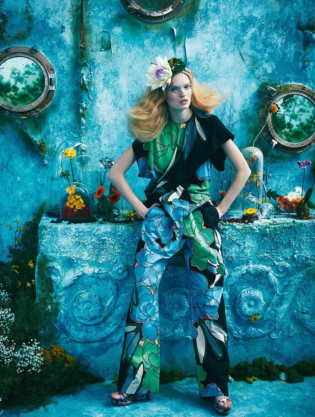 TatiTati Style ♔♔♔ Tutte In Fiore: Luisa Bianchin By Sandrine Dulermo And Michael Labica For Glamour Italia April 2015