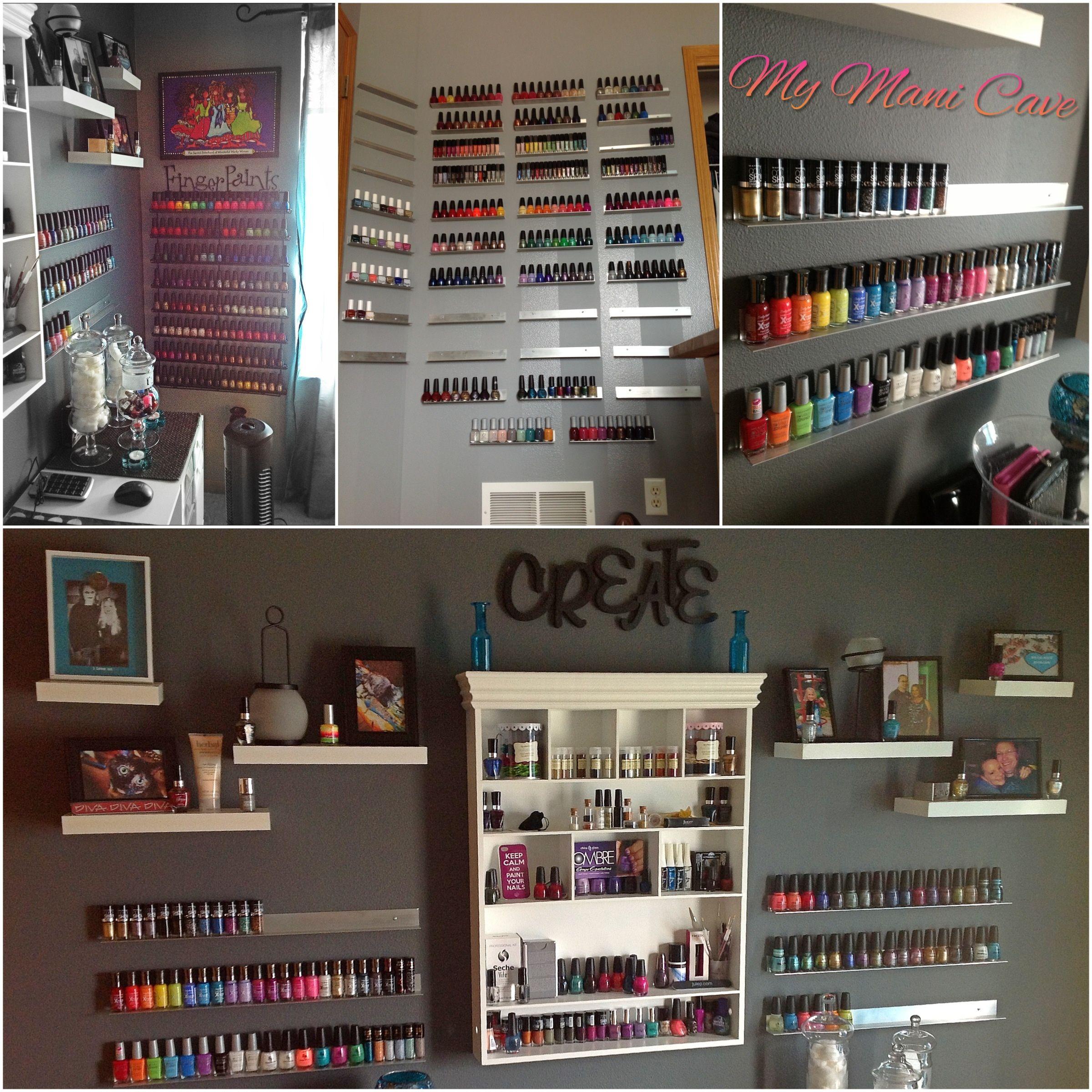 My Mani Cave DIY nail polish racks | Diary of a Nail polish addict ...