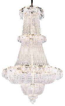 """French Empire Crystal Chandelier Chandeliers Lighting 60""""x36"""" [Kitchen] - traditional - chandeliers - CSS Inc. / Gallery"""