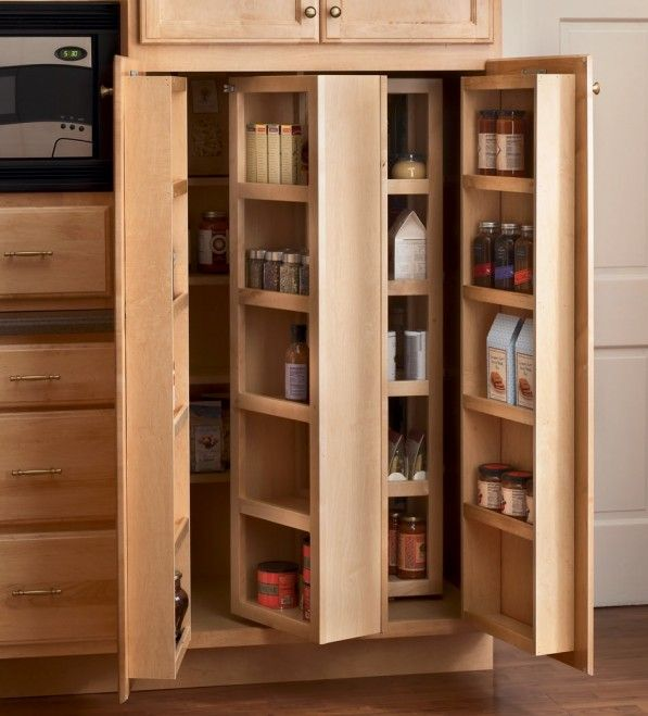 Architecture Styles Of Kitchen Pantry Cabinet Storage Double Doors With Simple Shelves On It Glass Door Pantry Cabinet Pantry Design Kitchen Pantry Storage