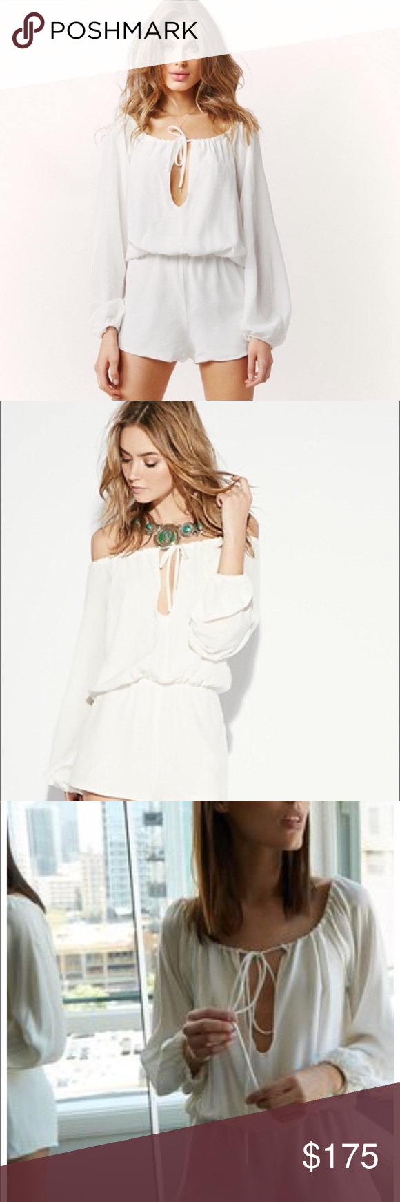 9d90264a9a3 Stone Cold Fox Phoenix Romper Beautiful white silk Romper than can be worn  on or off