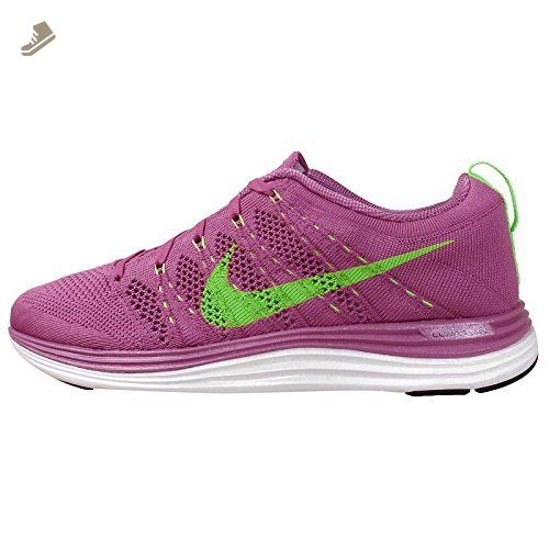 Nike Women's Wmns Flyknit Lunar1, CLUB PINK/ELECTRIC GREEN-WHITE, 11.5 US