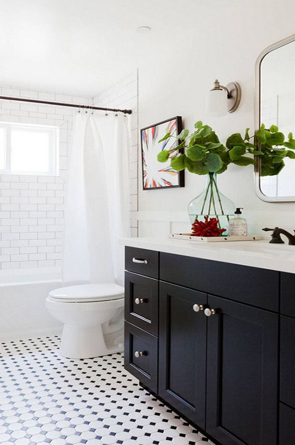 Stylish Black Bathroom Cabinet Ideas