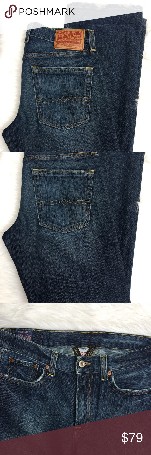 """Lucky Brand Denim Jeans Luck Brand Denim Jeans - Vintage Straight  Zipper Front  Inseam: 29""""  Machine wash: cold/ tumble dry low Condition: no rips no stains   ❌no holds ❌no trades (J) Lucky Brand Jeans"""
