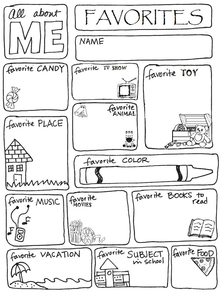 FIRST AND LAST DAY OF SCHOOL FAVORITES ACTIVITY SHEET ...