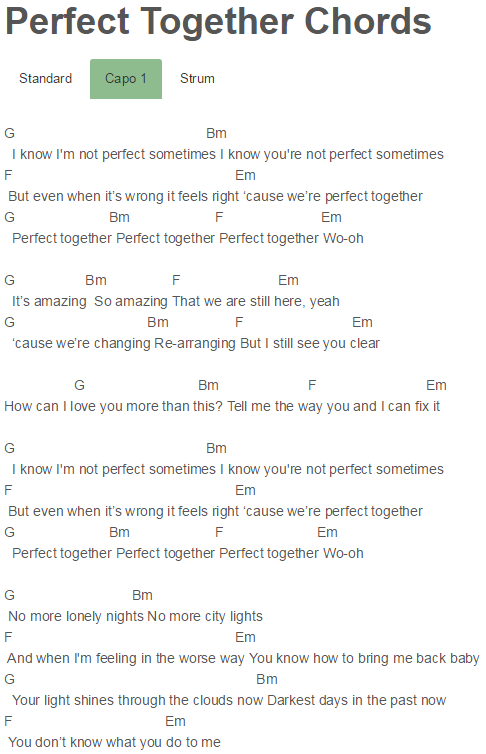 Perfect Together Chords Justin Bieber | Justin Bieber | Pinterest ...