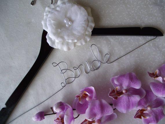 SALE Personalized Wedding Hanger/ Brides Hanger/ Bride/ Name Hanger/ Wedding Hanger