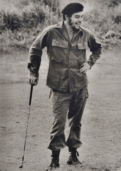 Here are images of Fidel Castro and Che Guevara as you've never seen them before – relaxing with a round of golf and spot of sea fishing.