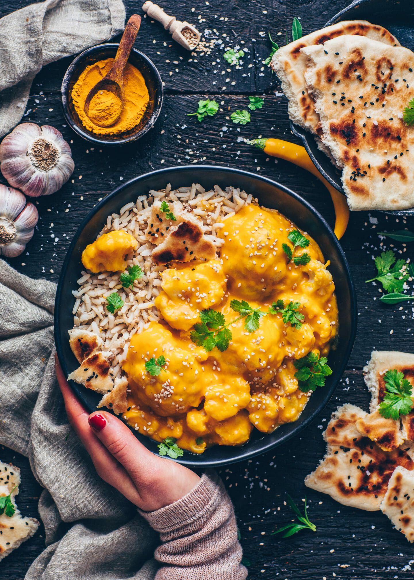 Blumenkohl Korma Curry (vegan, einfach) - Bianca Zapatka | Rezepte