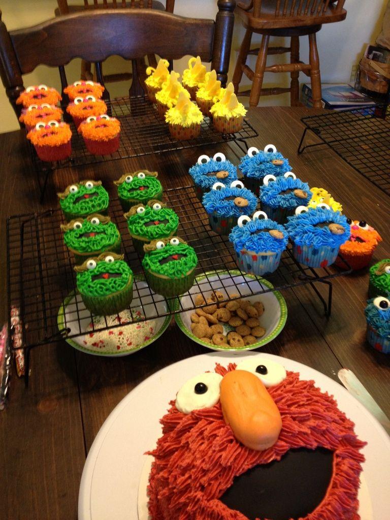 Sesame Street complete cupcake order first birthday Elmo