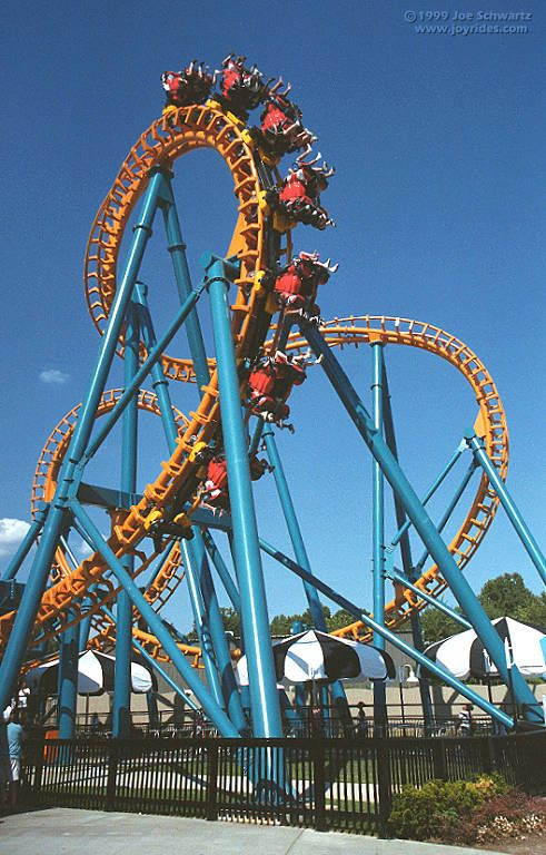 Two Face Roller Coaster At Six Flags America With Images