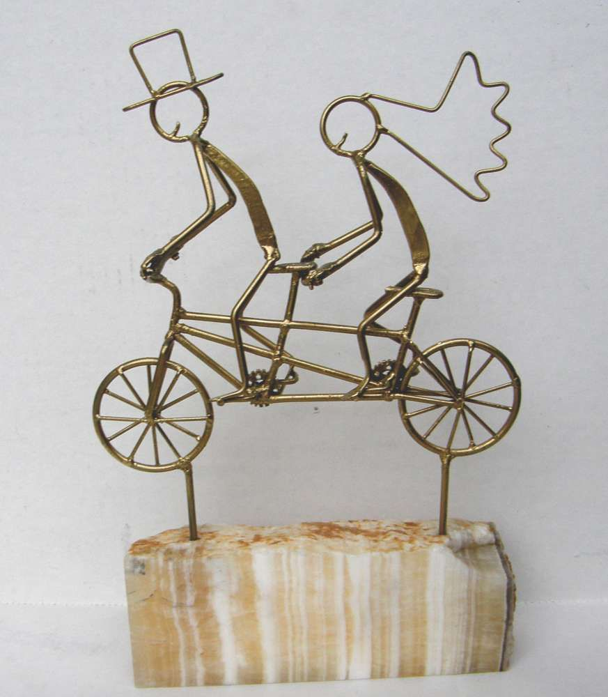 Bike themed wedding cake toppers, tandems, tandem bicycle cake ...