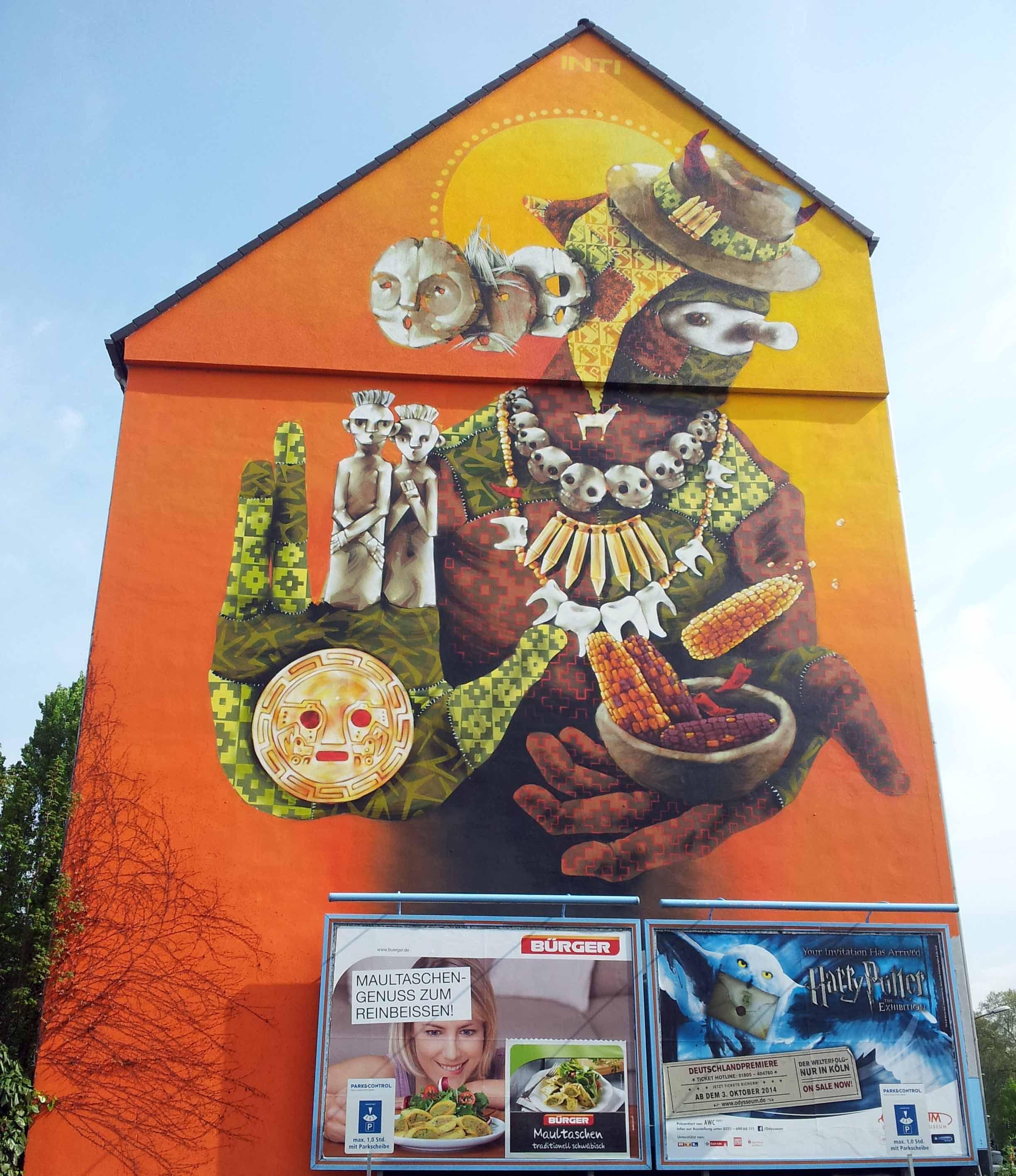Künstler Köln cityleaks festival 2011 wandgemälde mural vogelsanger straße 14