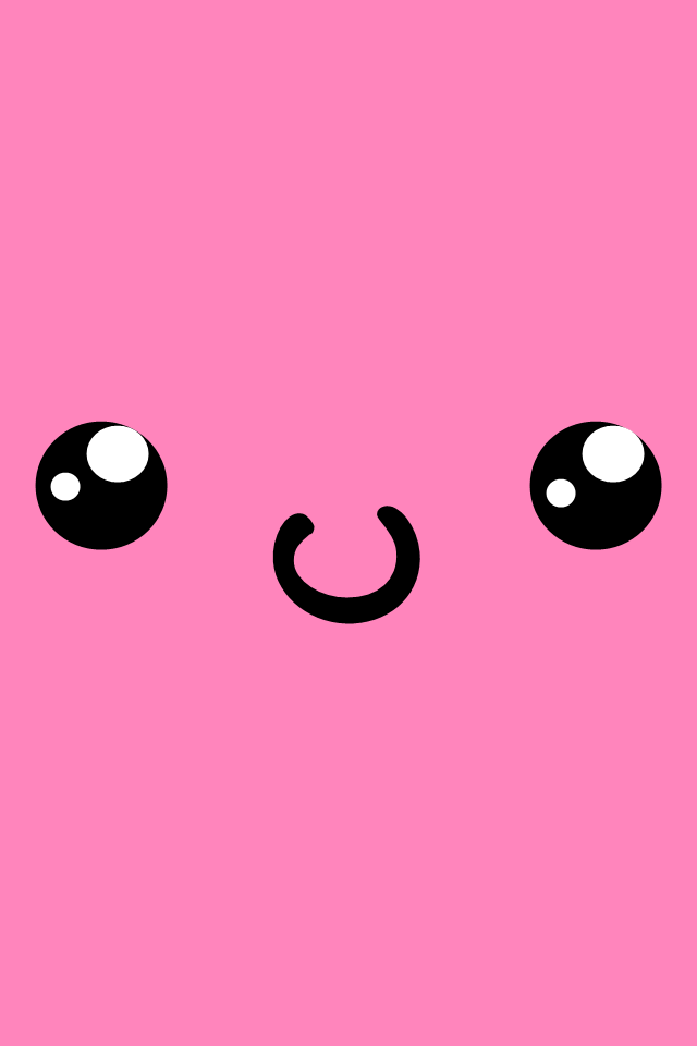 Cute Kawaii Face iPhone Wallpaper