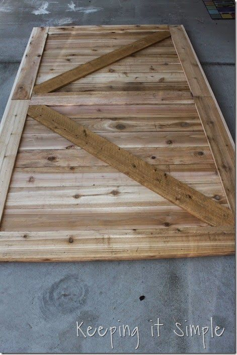 DIY Large Barn Door - Perfect for Large Openings | Wood Patterns