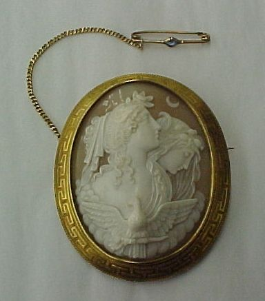 This is a beautiful example of a Classical themed cameo c. 1870s ...