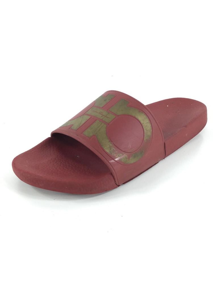 c35214a7294 H20 Salvatore Ferragamo Groove Logo Red Gold Rubber Pool Slide Sandal Men  Sz 9 M  fashion  clothing  shoes  accessories  mensshoes  sandals (ebay  link)