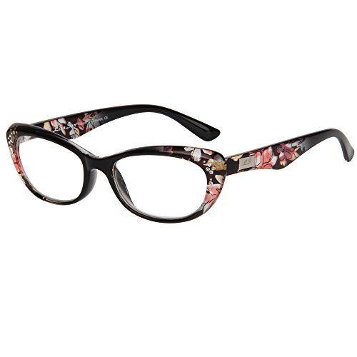 e98f65f6be44 LianSan womens designer wayfarer compact cat eye retro Fashion Black