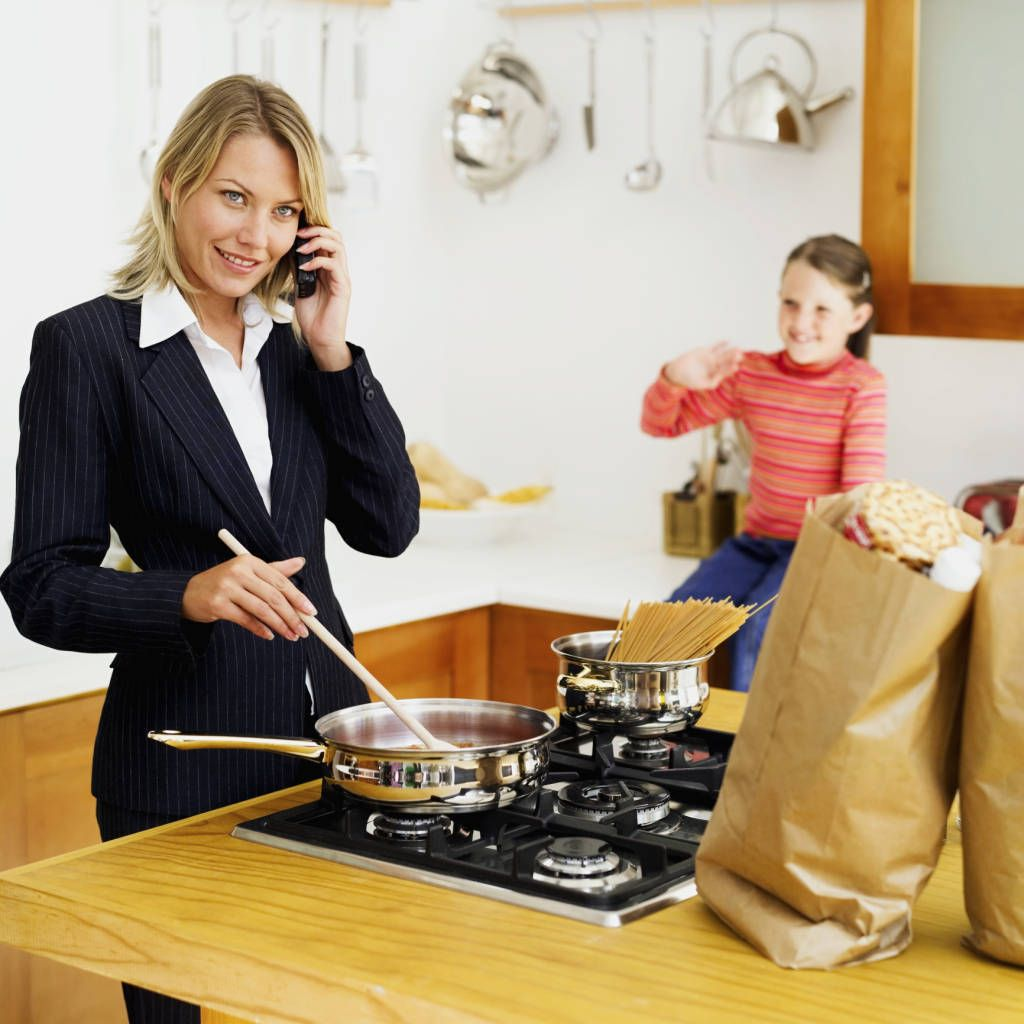 working mom Getty working mom busy cooks mom stockbytejpg Whip Up Quick