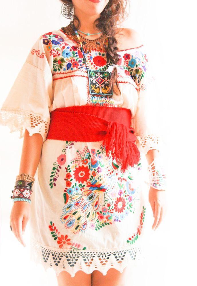 Vintage Romantic crochet lace Mexican party dress   You\'re Never ...