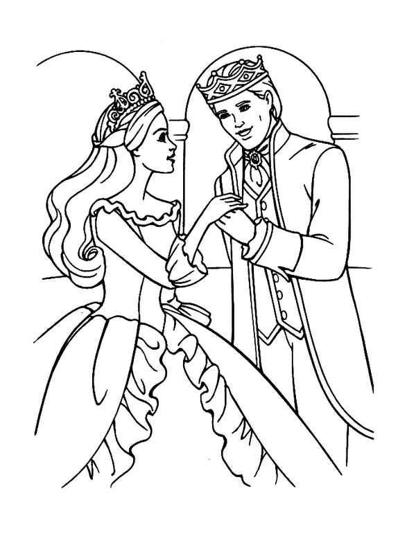 Barbie Princess Coloring Pages | My Barbie Illustrations | Pinterest