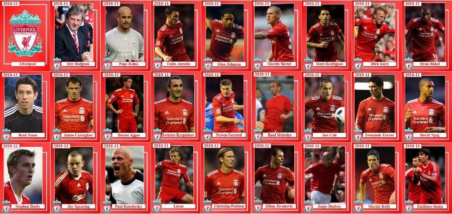 Liverpool Squad 2010-11   Liverpool FC   Pinterest   Futbol