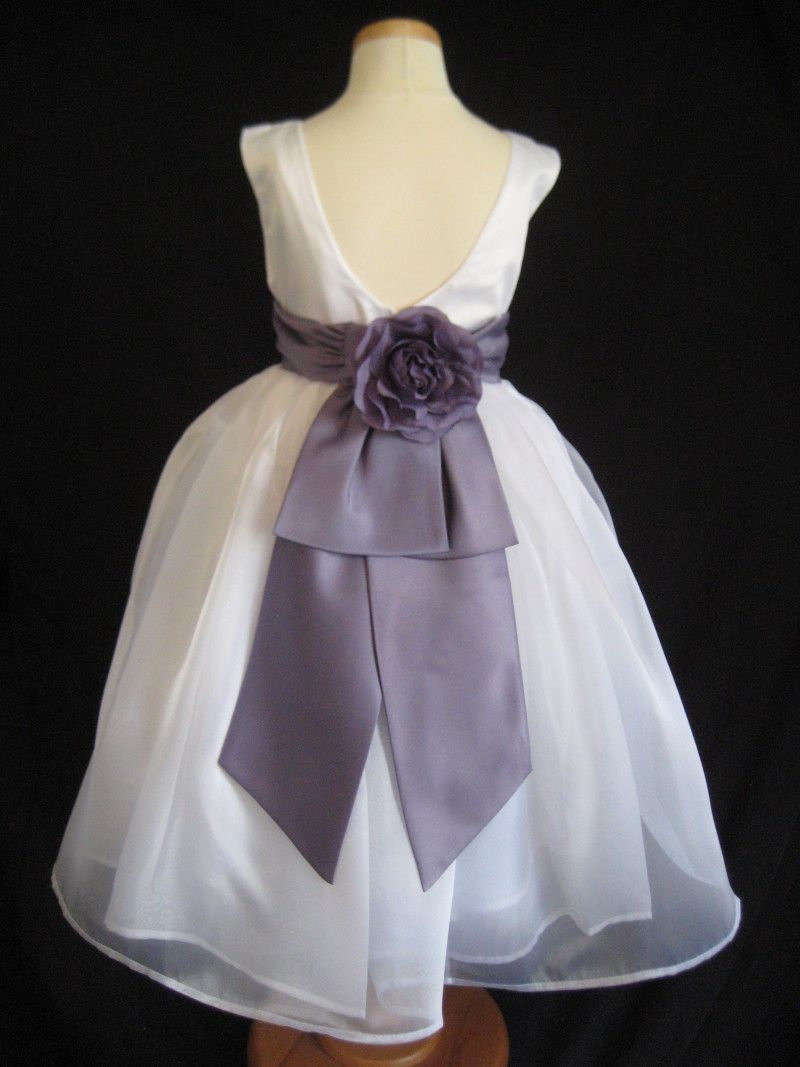 ba7cf0327 2T flower girl dresses | Victorian Lilac Rose Bow Flower Girl Dress 2T 3T  4T 5 6 | eBay