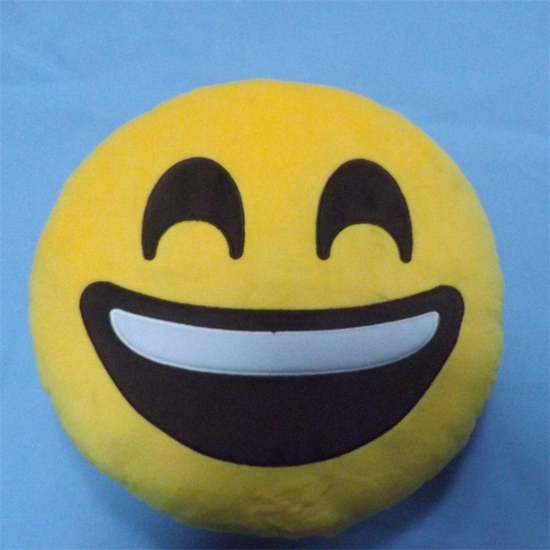 >> Click to Buy << Kids Emoji Smiley Pillow 32cm Children's Plush Toys Round Soft Emoji Pillow Yellow Smile Emoticon Cushion Stuffed Plush Toys #Affiliate