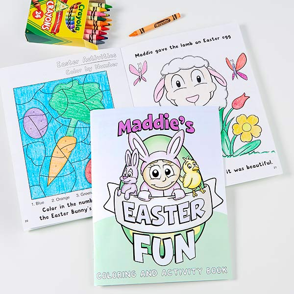 Easter Fun Personalized Coloring Activity Book Crayon Set Every Purchase Supports Charity