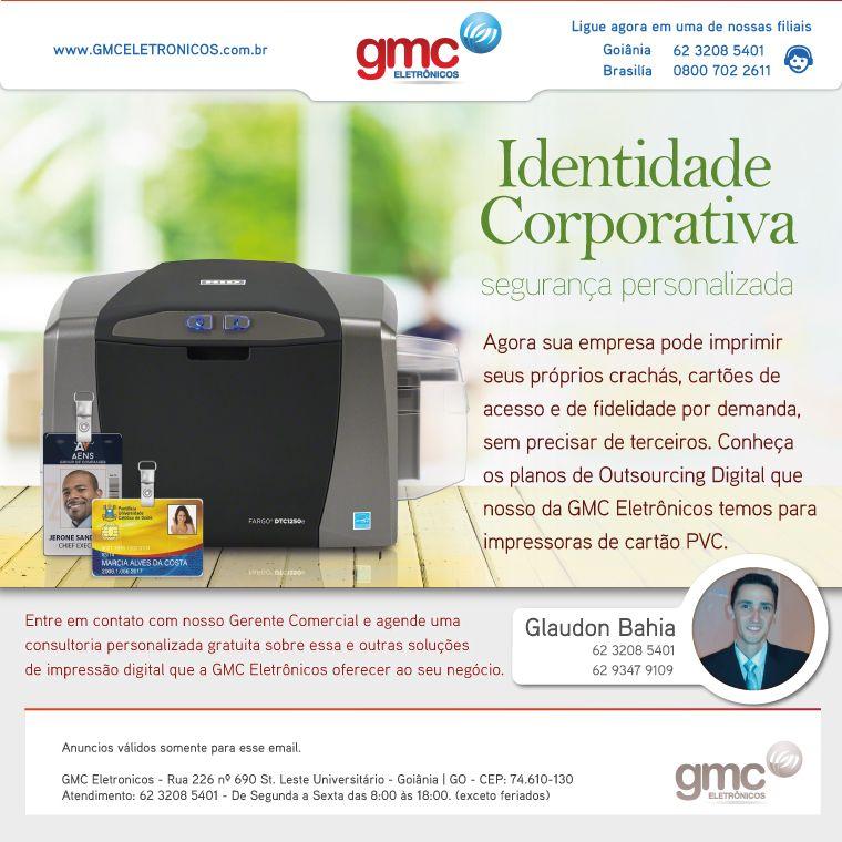Email Marketing Corporativo para o grupo GMC Outsourcing Digital em Goiânia/Brasil e Premier Max em Brasília/Brasil