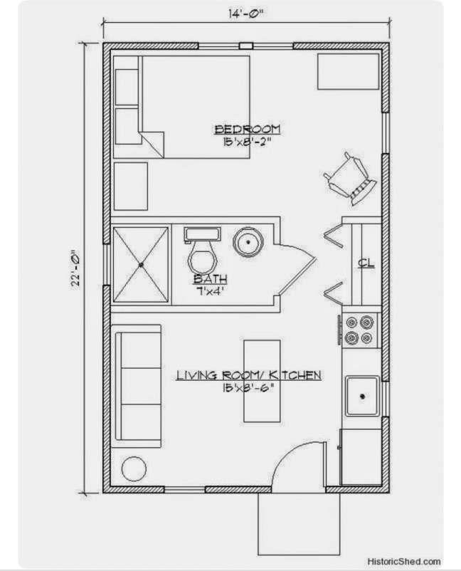 9 Exceptional 1 Bedroom Guest House Floor Plans Gallery Bedroom Tiny House Floor Plans House Floor Plans Tiny House Plans