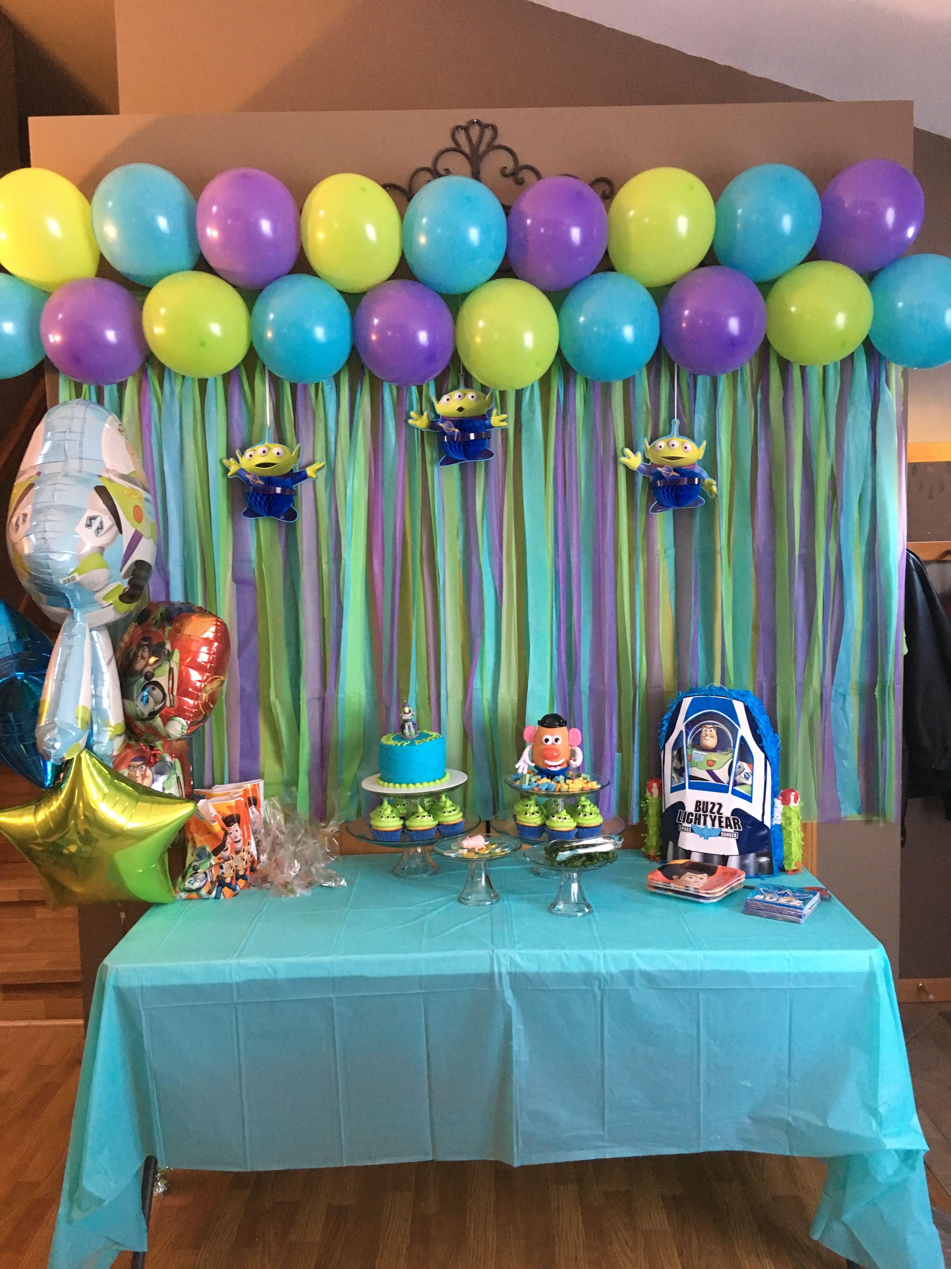 Toy Story Buzz Lightyear Party In 2019 Toy Story Birthday