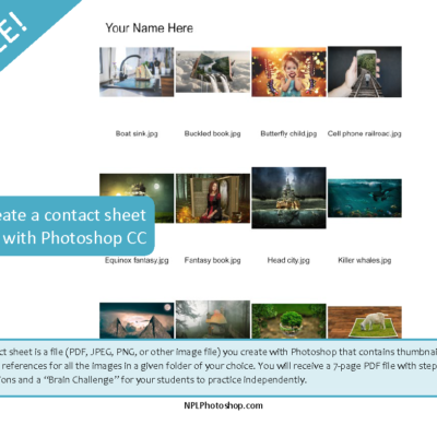 Create a Contact Sheet II with Photoshop CC – free no prep graphic design video lesson