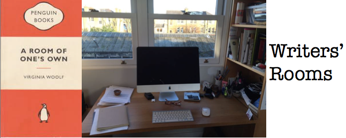 A series of blogposts to give a peek inside writers' rooms http://www.clareflynn.co.uk/blog/a-room-of-ones-own-where-writers-write