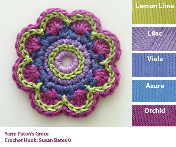 Flower Number 2 color card | Crochet Flowers | Pinterest | gehäkelte ...