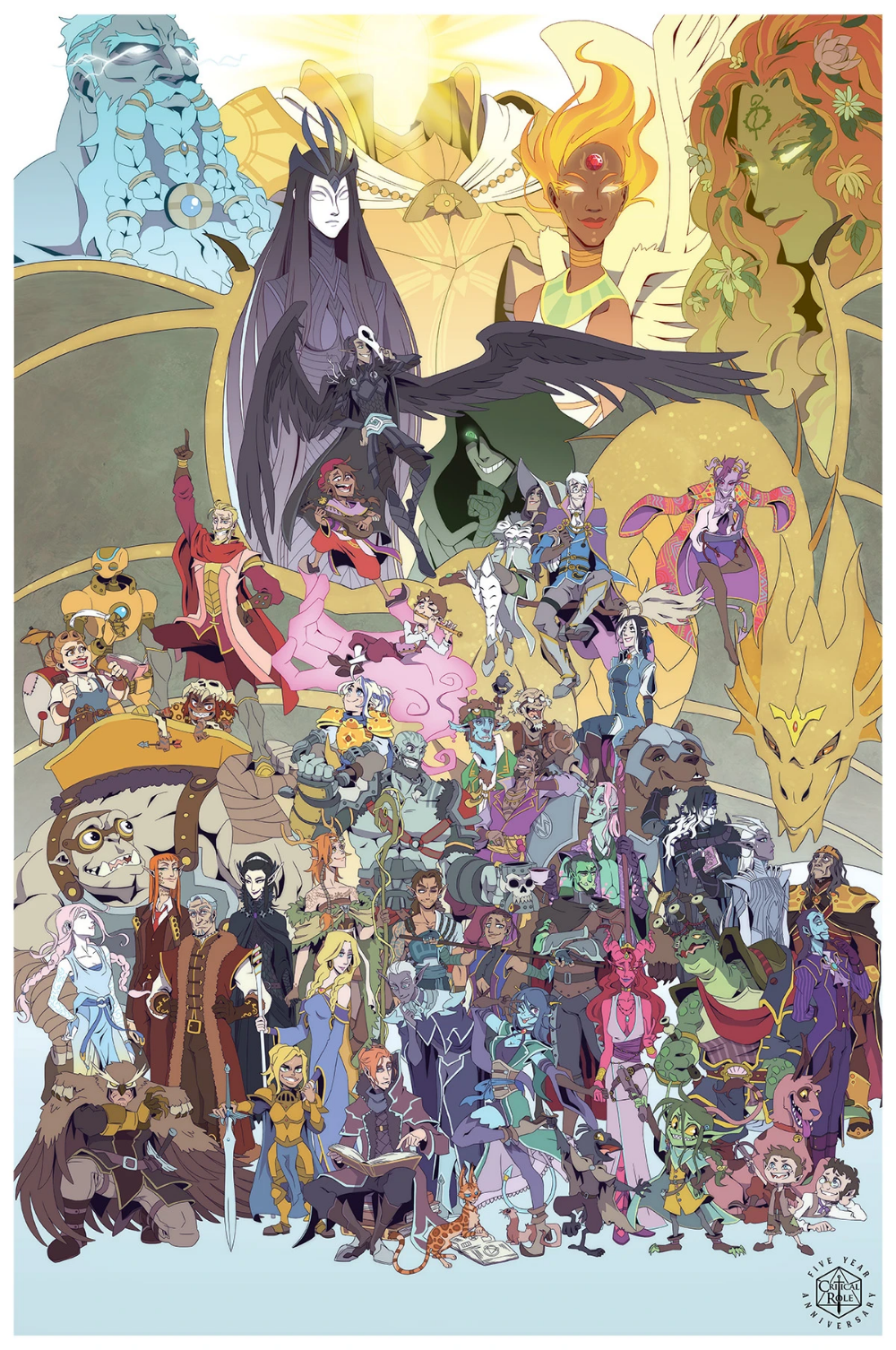 Critical Role 5 Year Anniversary Poster In 2020 Critical Role Critical Role Characters Dungeons And Dragons