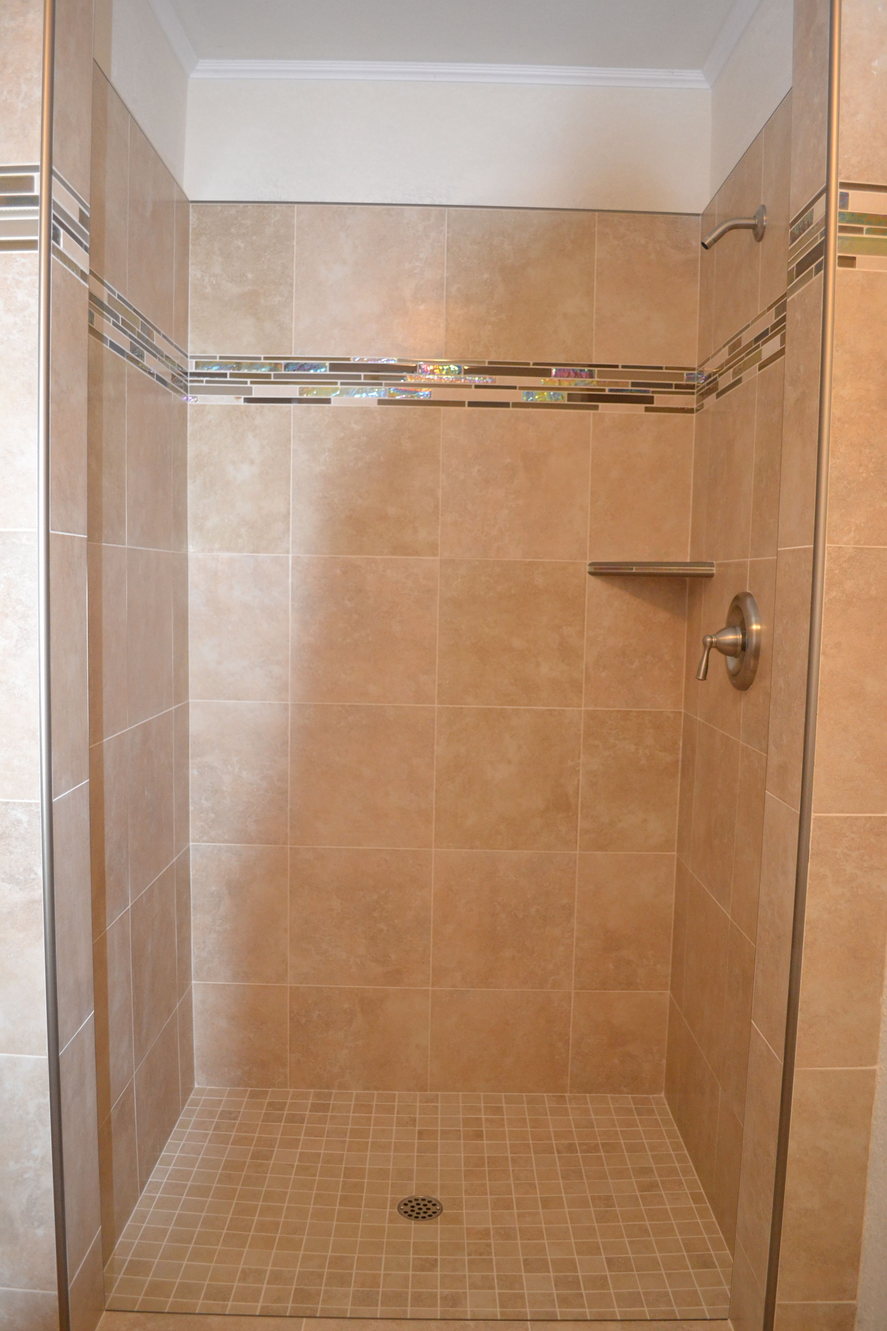 New shower / Marcus Marty Home Improvements / Schulter metal trim ...