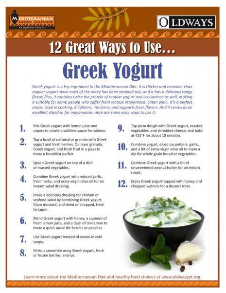 12 Great Ways To Use Greek Yogurt Oldways Greek Yogurt Recipes Greek Yogurt Benefits Yogurt Recipes