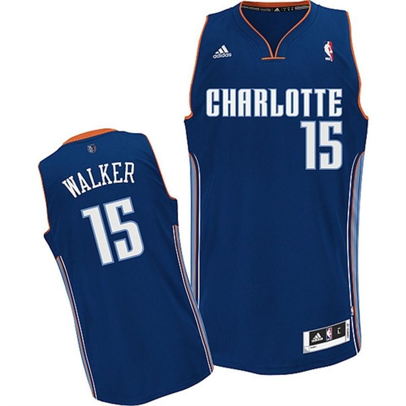 Kemba Walker Charlotte Bobcats adidas Youth Swingman Away Jersey - Navy Blue 9902a08e3