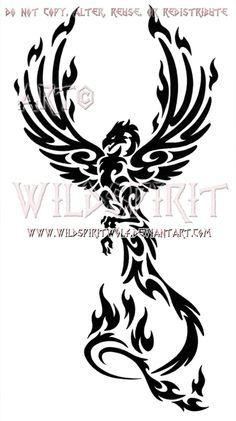 Rising Phoenix Tattoo Designs