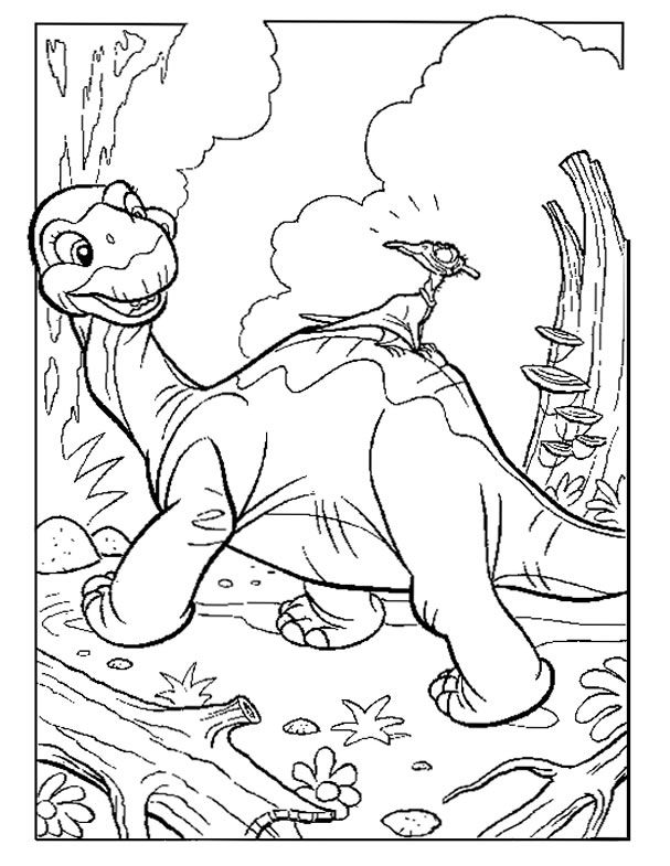 dinosaurs coloring pages printable free - Land Before Time Free Coloring Pages