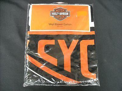 High Quality Harley Davidson Logo Shower Curtain New Hard To Find Rare