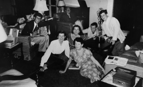 bobbykennedy:  The Kennedy family at their home in Palm Beach, Florida
