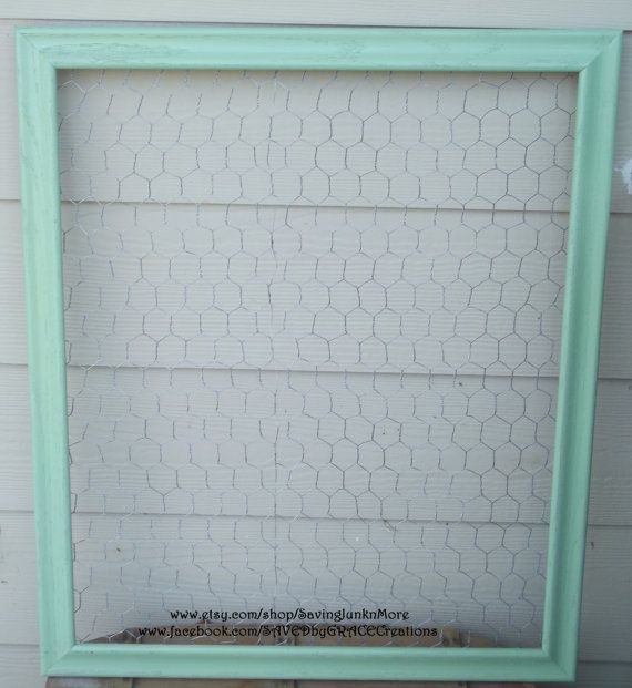 Chicken Wire Frame with clothespins to display children\'s art...and ...