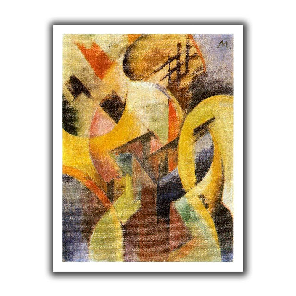Small Composition\' by Franz Marc Canvas Poster | Canvas poster ...