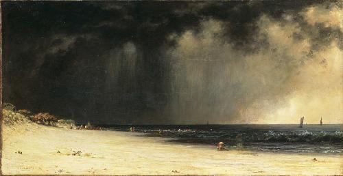 Martin Johnson Heade, 'Thunderstorm at the Shore'. (1819-1904)